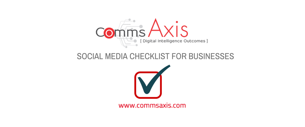 Social Media Checklist for Businesses