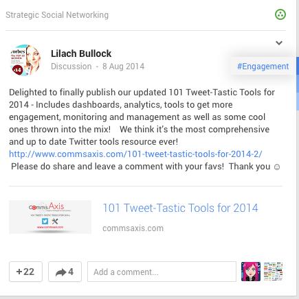 Google + example