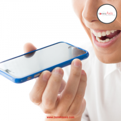Image of woman using voice search on smartphone for blog post on how Google's Pixel phone will impact SEO in a number a ways, Pixel Phone will impact SEO, Google's Pixel phone will impact SEO, how will Google's Pixel phone impact SEO, SEO, voice search, voice search optimization, voice search optimisation, Google Assistant impact on SEO, smartphone voice search, voice search threat to SEO, SEO tips, SEO tips for Google's Pixel, Dan Purvis, Nick Rojas, Comms Axis, CommsAxis, Comm Axis, CommAxis, Communications Axis, CommunicationsAxis, Communication Axis, CommunicationAxis, DanPurvis