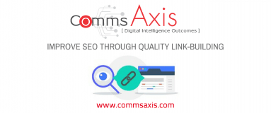 Comms Axis blog post feature image for understanding how to increase visibility and improve SEO through link building and content outreach campaigns through this great CopyPress infographic!
