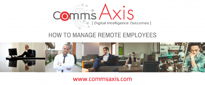 Managing Remote Employees post feature image with people working remotely in lots of locations_Understanding how to manage remote employees can make all the difference to your business so check out these 10 essential tips for managing remote employees