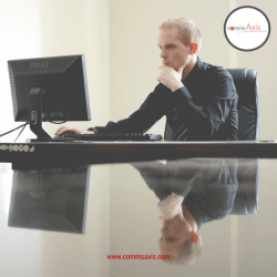 Managing Remote Employees post image 1 Business man at desk on his computer_Managing Remote Employees post image 1 Business man at desk on his computer_Understanding how to manage remote employees can make all the difference to your business so check out these 10 essential tips for managing remote employees