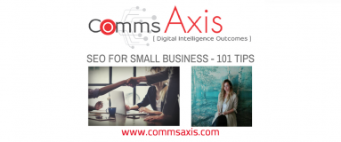 Feature image of Guide to Small Business SEO guest blog post by Chloe Smith for Comms Axis_Small business SEO could be what makes the difference to your company's growth - check out Chloe Smith's quick tips in her guest post for Comms Axis!