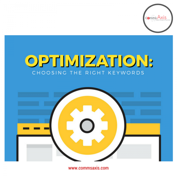 Optimization image 1 for SEO 101 - Choosing the Right Keywords article by Tristan Chua on Comms Axis