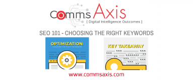 SEO 101 - Choosing the Right Keywords feature image for Tristan Chua article on Comms Axis on SEO 101 and choosing the right keywords