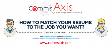 This Is How to Tailor Your Resume to Land That Job feature image for UpToWork infographic on Comms Axis_Stop submitting your CV for 10s or 100s of jobs! This infographic by UpToWork shows you how to tailor your resume to get your dream job - check it out!