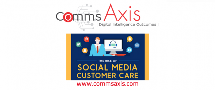 A Brief Introduction to Social Media Customer Care feature image for Website Builder UK infographic on Comms Axis_Social media customer care is big business now - check out this infographic by Website Builder UK on the rise and scale of social media customer service!